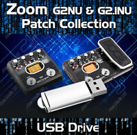 ZOOM G2Nu & G2.1Nu PATCH TONE LIBRARY USB DRIVE - GUITAR EFFECTS PEDALS