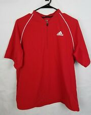 Adidas Triple Stripe Baseball Red 1/4 Zip Up Pullover BBA13001 Boys size XL