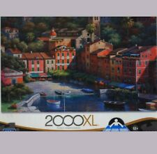 """ITALIAN VILLIAGE HARBOR"", (Mega Puzzle), 2000 pieces, Sung Kim art, NEW"