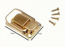 Funda cierre de palanca para cajas 48mm x 33mm latonado cant. Pack de 10