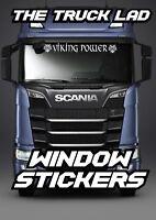 VIKING POWER WINDOW VINYL STICKER X1 VOLVO FH  FM SCANIA VABIS TOPLINE