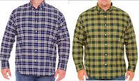 NWT Foundry MENS Plaid Shirt XLT 3XL 3XLT 4XLT Big & Tall Green Blue Long Sleeve