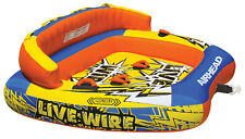 NEW AIRHEAD AHLW-3 Live Wire 3 Inflatable 1-3 Rider Boat Towable Lake Water Tube