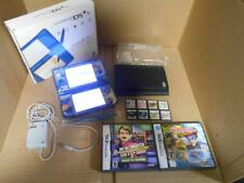 Nintendo DSi XL Blue System With 10 Games, Charger, Case, & Accessories ~