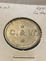 Vintage Token, C&W Good For 5 Cents In Trade  Token Coin T19