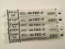 PILOT HI-TEC-C GEL PEN REFILL 0.4mm (5 black)
