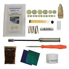 Clarinet Pad Kit with Instructions Adhesive Pellets Shellac Flakes & Key Polish