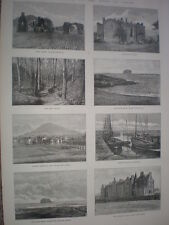 North Berwick on the Firth of Forth 1888 old prints