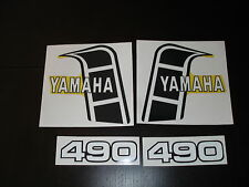 1982 YAMAHA YZ 490 GAS TANK AND SIDE PANEL DECALS AHRMA VINTAGE MOTOCROSS