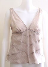 MARC JACOBS TOP BLOUSE SIZE 6 POLKA DOT 100% SILK MUST HAVE SHIRT