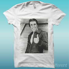 """T-Shirt """"Fonzie Happy Days"""" White the happiness is have my T-Shirts NEW"""