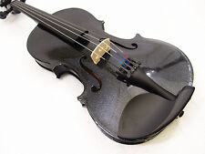New 4/4 Black Violin(VB-280BK) + Case+ Bow+ Rosin+ Free Violin string set