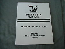 WISCONSIN ENGINE  AFH-AGH-AHH adh ae aeh aehs , REPAIR & PARTS MANUAL BRAND NEW