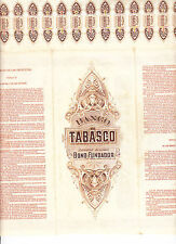 MEXICO: BANCO de TABASCO - 1902 - BONO FUNDADOR - NOT CANCELLED
