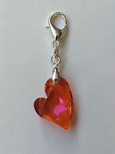 Kristall Schmuck Charm mit Swarovski Elements Devoted 2 U Heart Herz