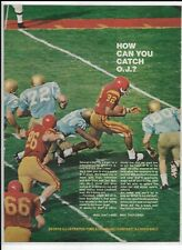 Vintage 1969 How Can You Catch O.J. Simpson SI Full-Color Ad~ USC/UCLA ~ Ironic?