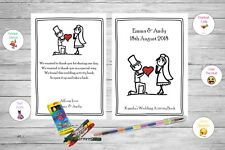 Personalised Childrens Kids Wedding Activity Pack Book Favour Cute Bride AB72