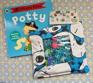 Potty training book and matching Treasure seeking bag