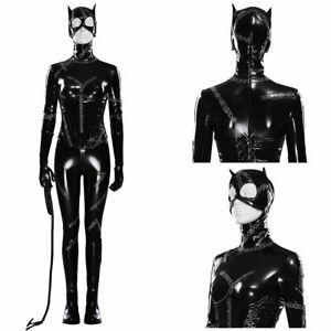 Batman Returns-DC Catwoman -Selina Kyle Cosplay Costume Outfit Jumpsuit Suit