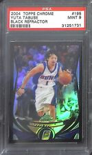 2004-05 Topps Chrome Black Refractor #195 Yuta Tabuse No 314 of 500 PSA 9