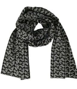 Michael Kors Marl Logo Muffler Scarf, Black/Grey Style 33694C