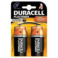 Duracell Batteries 2 x D Plus Power Battery Alkaline LR20 1.5V MN1300