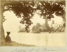 Suisse, Alpes bernoises, Château de Schadau, ca.1900, vintage citrate print Vint