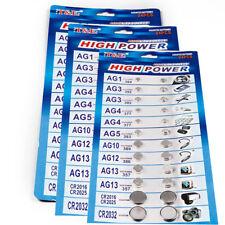 24pcs/set  Button T&E Cell Watch Batteries AG1/3/4/5/10/12/13  CR2016/2025/2032