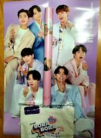 BTS 2020 Official Baskin robbins BTS soulder eco bag bromide poster set