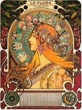 Lady Astrology Chart by Alphonse Mucha
