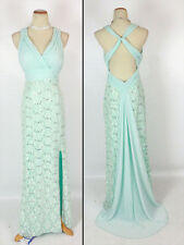 Morgan & Co $160 Evening Prom Formal Cruise Dress size 5 Sage Long Junior NEW