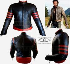 X-Men Wolverine Stile Uomo Nero / Bdx Moda di Qualità Analene Giacca di Pelle