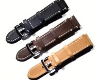 Genuine Leather Watch Strap Wristwatch Bands Replacement 18/19/20/21/22/23/24mm