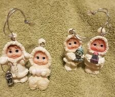 Dreamsicles Northern Nights Miniature Christmas Holiday Tree Ornaments Set of 4