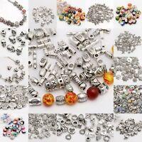 Lot 500Pcs Tibet Silver Beads Spacer For Jewelry Making European Bracelet
