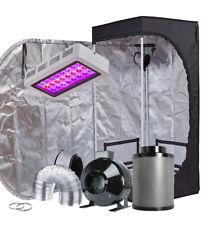 """TopoGrow 300W LED Grow Light Kit+24""""x24""""x48""""Grow Tent+4"""" Fan&Filter&Duct Combo"""