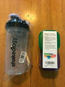 Shakeology Shake cup - sealed & Team Beachbody Portion control containers sealed