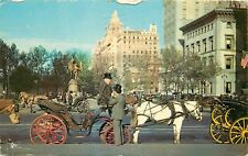 Carriages of 59th Street New York City NY NYC pm 1960s 1964 Postcard