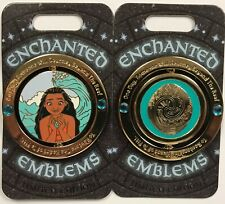 Disney Parks Disneyland 2020 Moana Enchanted Emblems Le Spinner Pin of the Month