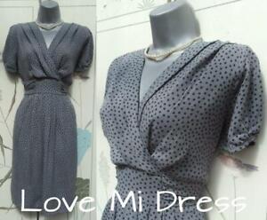 M&S - Gorgeous Polka Dot Dress Sz 12 EU40