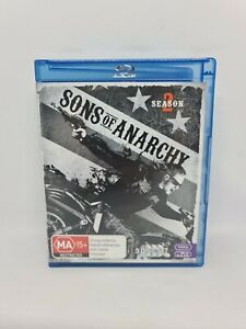 SONS OF ANARCHY Season Two Blu-ray Region B VGC Free Tracked Shipping
