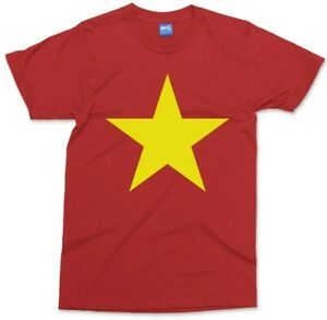 Vietnam Country Flag T-shirt Vietnamese Yellow Star Symbol Asia Gift Unisex Top