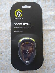 Champion® Econosport Stopwatch/ Sport Timer 1/100 Sec Precision , NWT & Battery