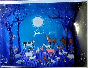 Vegan Animals birthday yule christmas wife card hare tree of life badger fox