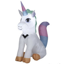Halloween Inflatable Baby Unicorn 3.5 ft Gemmy Airblown Party Greeter Yard Decor