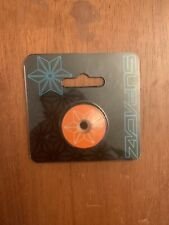 Supacaz Star Capz SHIS Powder Coated Orange 1-1/8`
