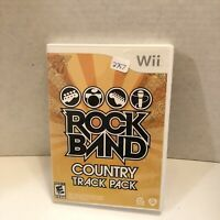 Rock Band: Country Track Pack - Nintendo  Wii Game- W/ Manual
