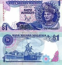 MALAYSIA 1 Ringgit Banknote World Money UNC Currency BILL Note p27d 1989 Rahman
