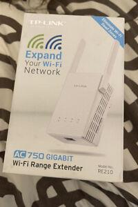 TP-Link AC 750 Gigabit wifi extender re210 New
