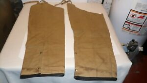 Filson Tin Cloth Waxed Oil Hunting Chaps Size Regular Style 23H ( 27.5 IN 36 OUT